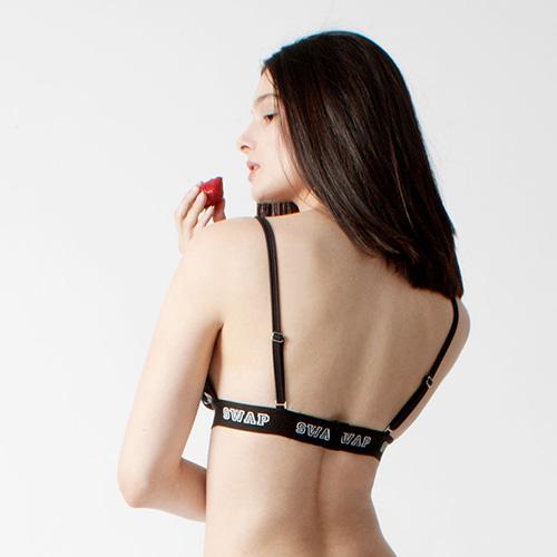 SWAP feliratos fürdőruha háromszög melltartó (hátsó nézet)