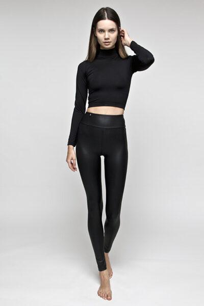 SWAP bőrhatású magas derekú elasztikus leggings. (2)