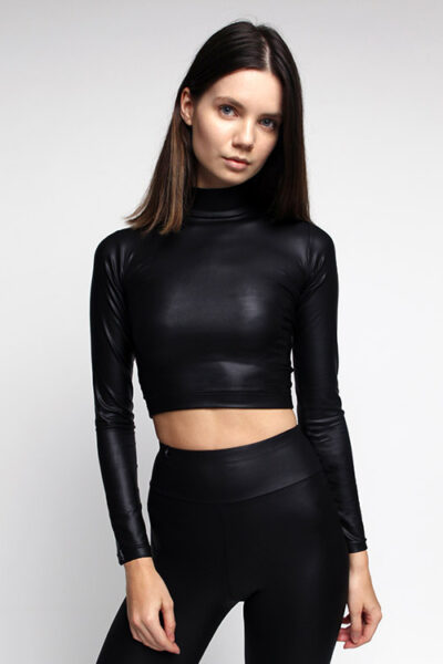 SWAP fashion bőrhatású crop top.