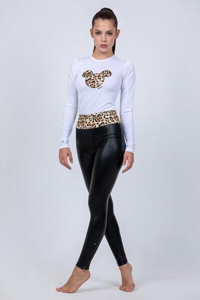 SWAP bőrhatású elasztikus cipzáras leggings, Jungle-02